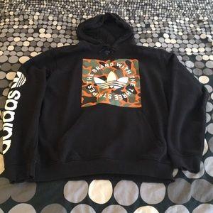 Adidas Originals Trefoil Camo Box Logo Hoodie